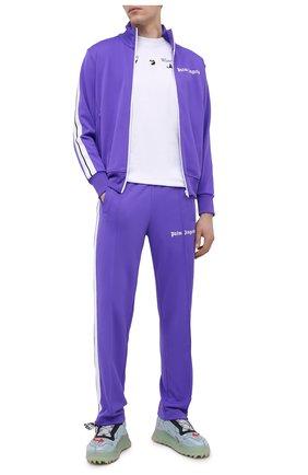 Мужские брюки PALM ANGELS фиолетового цвета, арт. PMCA007R21FAB0013701 | Фото 2