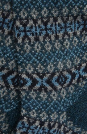 Мужские кашемировые носки PANTHERELLA бирюзового цвета, арт. 57004 | Фото 2