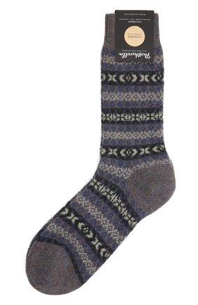 Мужские кашемировые носки PANTHERELLA фиолетового цвета, арт. 57004 | Фото 1 (Материал внешний: Кашемир, Шерсть; Кросс-КТ: бельё)