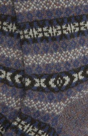 Мужские кашемировые носки PANTHERELLA фиолетового цвета, арт. 57004 | Фото 2 (Материал внешний: Кашемир, Шерсть; Кросс-КТ: бельё)