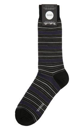 Мужские носки PANTHERELLA фиолетового цвета, арт. 595602 | Фото 1 (Материал внешний: Шерсть, Синтетический материал; Кросс-КТ: бельё)