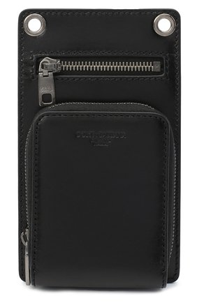 Кожаный чехол для iphone DOLCE & GABBANA черного цвета, арт. BP2770/AW352 | Фото 1