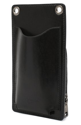 Кожаный чехол для iphone DOLCE & GABBANA черного цвета, арт. BP2770/AW352 | Фото 2