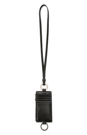 Мужской кожаный футляр для кредитных карт DOLCE & GABBANA черного цвета, арт. BP2741/AW352 | Фото 1