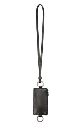 Мужской кожаный футляр для кредитных карт DOLCE & GABBANA черного цвета, арт. BP2741/AW352 | Фото 2