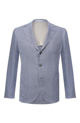 Мужской пиджак изо льна и шерсти BRUNELLO CUCINELLI синего цвета, арт. MD4957BND   Фото 1