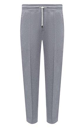 Мужские хлопковые брюки BRUNELLO CUCINELLI серого цвета, арт. M0T313212G | Фото 1