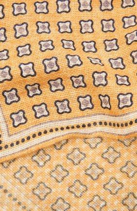 Мужской платок изо льна и хлопка BRUNELLO CUCINELLI желтого цвета, арт. MQ8520091 | Фото 2