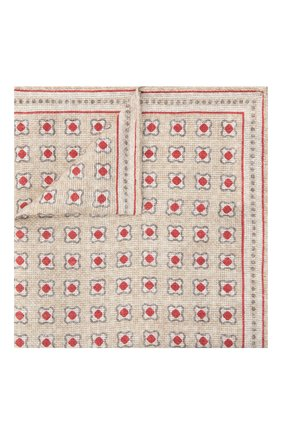 Мужской платок изо льна и хлопка BRUNELLO CUCINELLI бежевого цвета, арт. MQ8520091 | Фото 1
