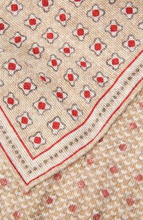 Мужской платок изо льна и хлопка BRUNELLO CUCINELLI бежевого цвета, арт. MQ8520091 | Фото 2