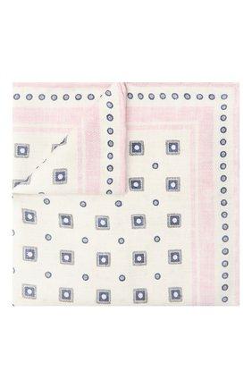 Мужской шелковый платок BRUNELLO CUCINELLI розового цвета, арт. MQ8820091 | Фото 1