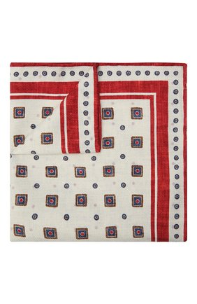 Мужской шелковый платок BRUNELLO CUCINELLI красного цвета, арт. MQ8820091 | Фото 1 (Материал: Текстиль, Шелк)