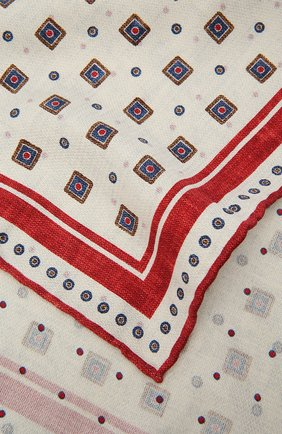 Мужской шелковый платок BRUNELLO CUCINELLI красного цвета, арт. MQ8820091 | Фото 2 (Материал: Текстиль, Шелк)