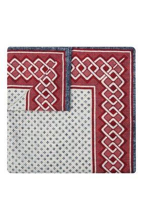 Мужской шелковый платок BRUNELLO CUCINELLI разноцветного цвета, арт. MQ8840091 | Фото 1 (Материал: Текстиль, Шелк)