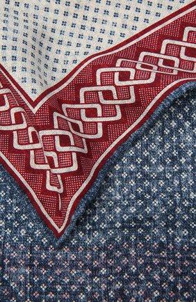Мужской шелковый платок BRUNELLO CUCINELLI разноцветного цвета, арт. MQ8840091 | Фото 2 (Материал: Текстиль, Шелк)
