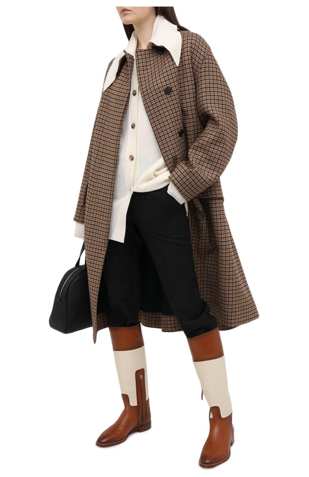 Женские кожаные сапоги RALPH LAUREN коричневого цвета, арт. 800819002   Фото 2