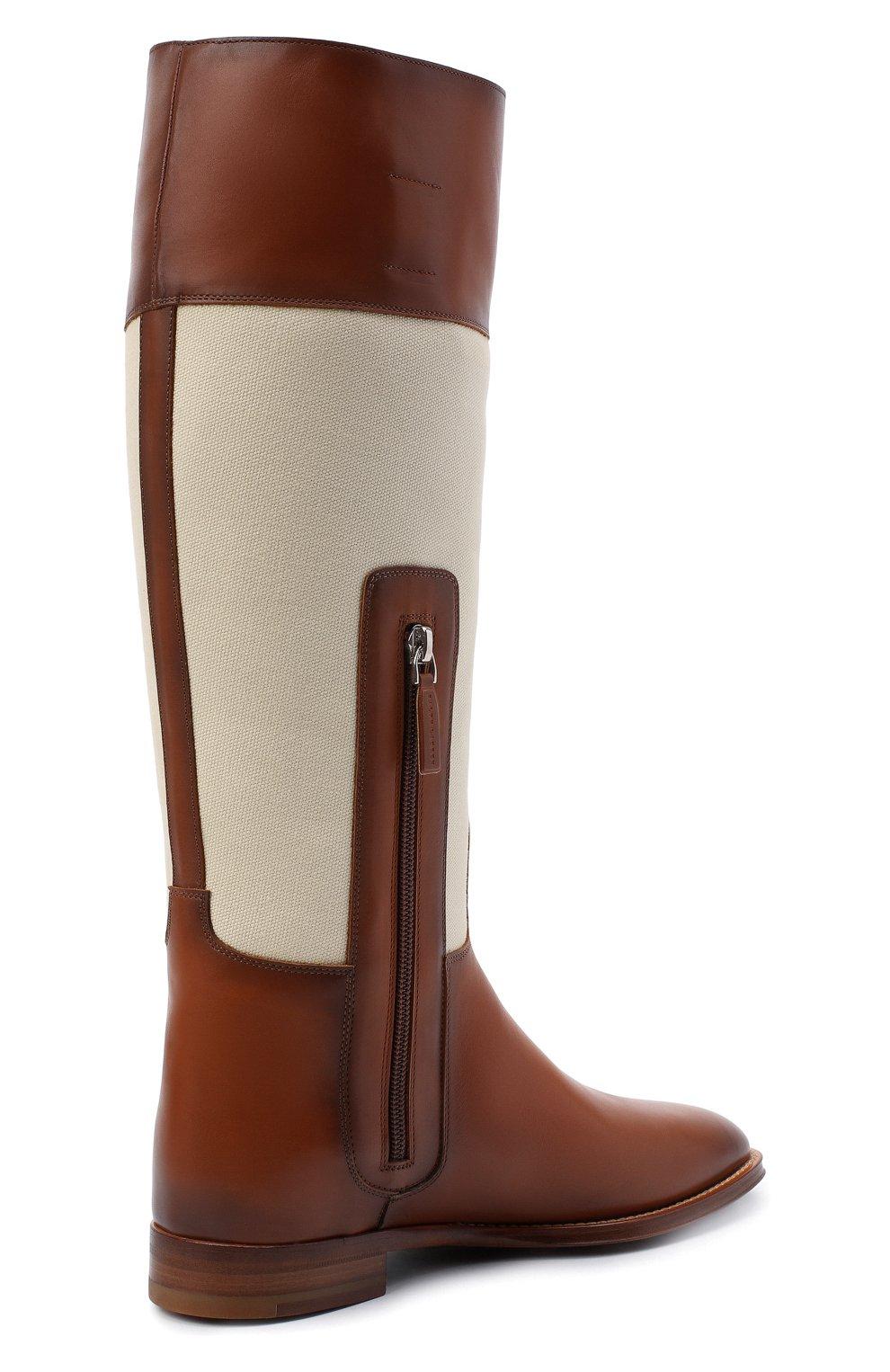 Женские кожаные сапоги RALPH LAUREN коричневого цвета, арт. 800819002   Фото 4