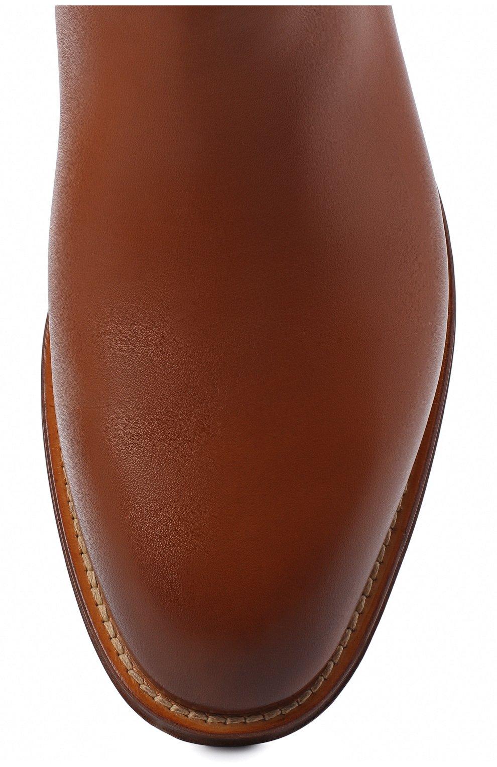 Женские кожаные сапоги RALPH LAUREN коричневого цвета, арт. 800819002   Фото 5