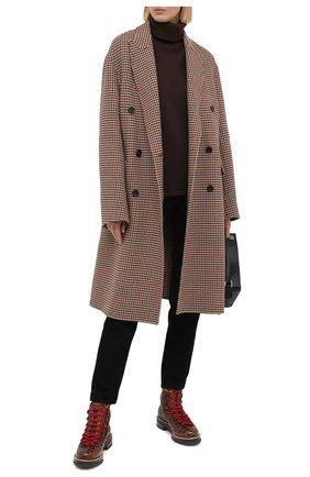 Женские кожаные ботинки RALPH LAUREN коричневого цвета, арт. 800840422/AMIS | Фото 2