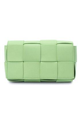 Женская поясная сумка cassette BOTTEGA VENETA светло-зеленого цвета, арт. 639367/VMAY1 | Фото 1