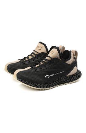 Женские текстильные кроссовки runner 4d Y-3 черного цвета, арт. FX1058/W | Фото 1