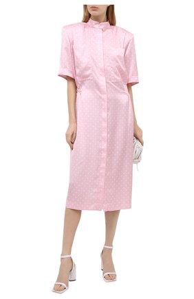 Женское платье VETEMENTS розового цвета, арт. WE51DR100P 2607/BABY PINK/WHITE | Фото 2