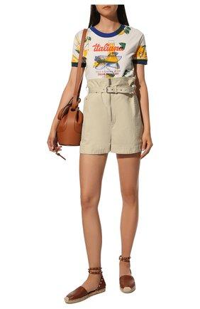 Женские кожаные эспадрильи rockstud VALENTINO коричневого цвета, арт. VW2S0530/VT0 | Фото 2 (Подошва: Платформа; Каблук высота: Низкий; Материал внутренний: Натуральная кожа)