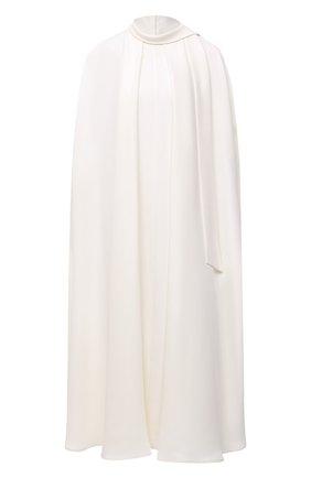 Женское шелковое платье VALENTINO белого цвета, арт. VB3VAUW51MM | Фото 1