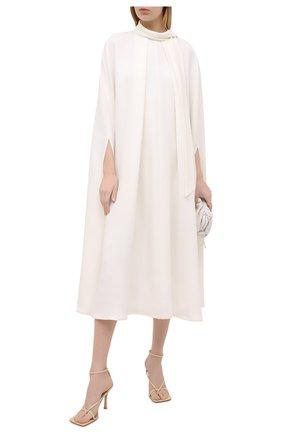 Женское шелковое платье VALENTINO белого цвета, арт. VB3VAUW51MM | Фото 2