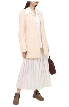 Женская кожаные дерби THE ROW коричневого цвета, арт. F1184-L36   Фото 2 (Подошва: Плоская; Материал внутренний: Натуральная кожа)