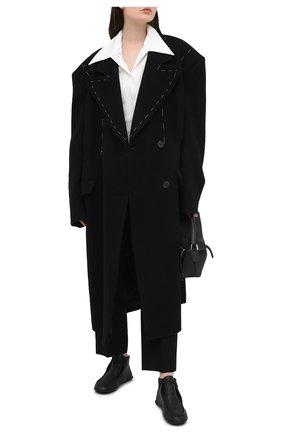 Женская кожаные дерби THE ROW черного цвета, арт. F1184-L36   Фото 2