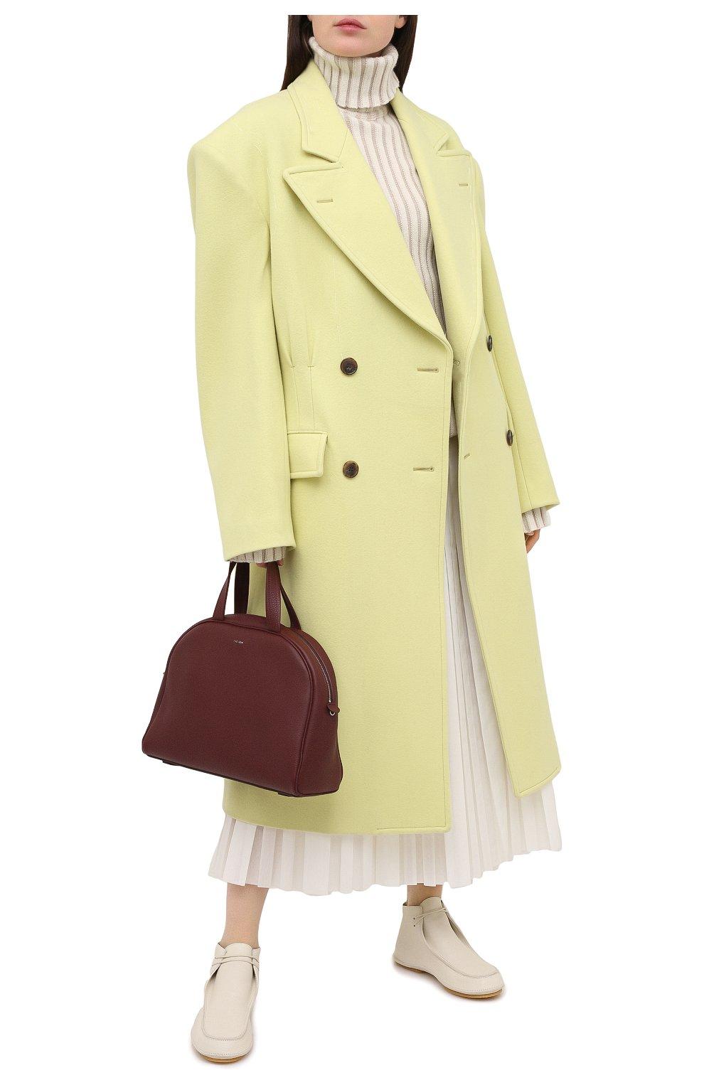Женская кожаные дерби THE ROW белого цвета, арт. F1184-L36 | Фото 2