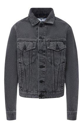Женская джинсовая куртка OFF-WHITE темно-серого цвета, арт. 0WYE012R21DEN002 | Фото 1