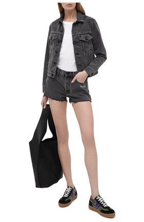Женская джинсовая куртка OFF-WHITE темно-серого цвета, арт. 0WYE012R21DEN002 | Фото 2