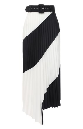 Женская юбка OFF-WHITE черно-белого цвета, арт. 0WCC115R21FAB001 | Фото 1