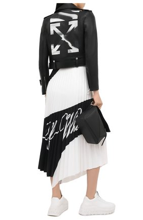 Женская юбка OFF-WHITE черно-белого цвета, арт. 0WCC115R21FAB001 | Фото 2