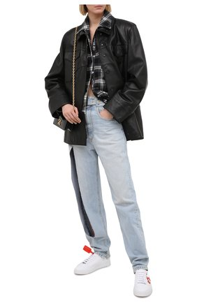 Женские кожаные кеды OFF-WHITE белого цвета, арт. 0WIA177R21LEA0030125 | Фото 2
