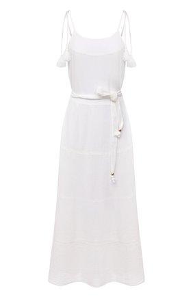 Женское хлопковое платье MELISSA ODABASH белого цвета, арт. FRU | Фото 1