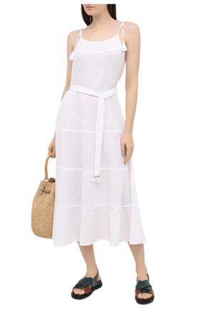 Женское хлопковое платье MELISSA ODABASH белого цвета, арт. FRU | Фото 2