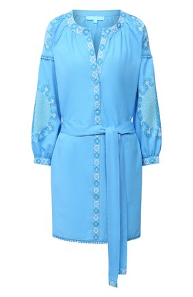 Женское хлопковое платье MELISSA ODABASH голубого цвета, арт. CATHY | Фото 1