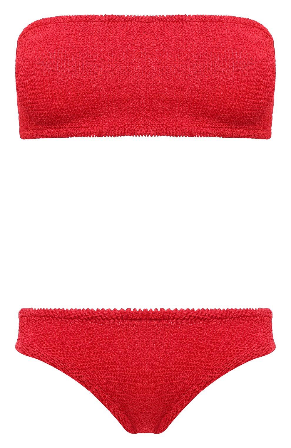 Женский раздельный купальник HUNZA G красного цвета, арт. GABRIELLE BIKINI | Фото 1 (Женское Кросс-КТ: Раздельные купальники; Материал внешний: Синтетический материал)