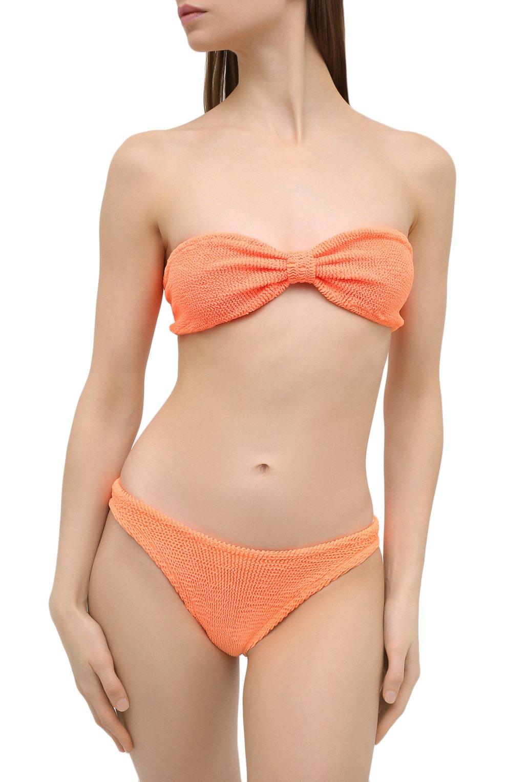 Женский раздельный купальник HUNZA G оранжевого цвета, арт. JEAN BIKINI | Фото 2 (Женское Кросс-КТ: Раздельные купальники; Материал внешний: Синтетический материал)