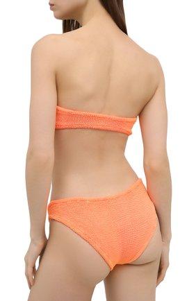 Женский раздельный купальник HUNZA G оранжевого цвета, арт. JEAN BIKINI | Фото 3 (Женское Кросс-КТ: Раздельные купальники; Материал внешний: Синтетический материал)