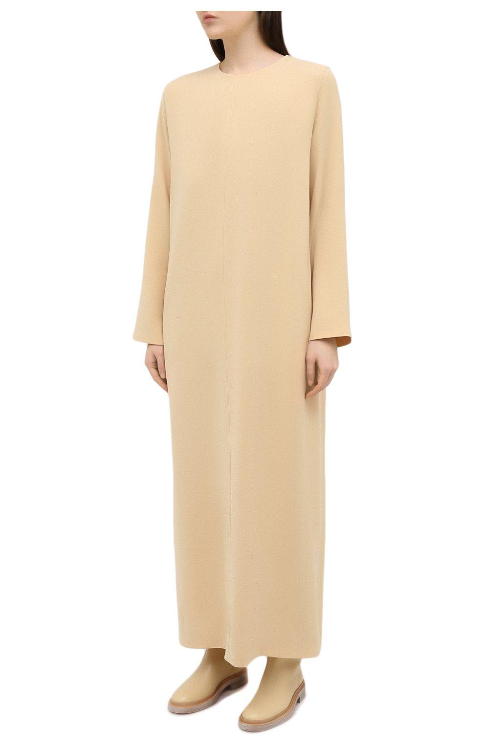 Женское платье THE ROW бежевого цвета, арт. 5470W1968   Фото 3
