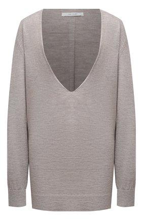 Женский пуловер из кашемира и шелка THE ROW бежевого цвета, арт. 5500F457 | Фото 1