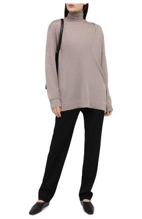 Женский пуловер из кашемира и шелка THE ROW бежевого цвета, арт. 5500F457 | Фото 2