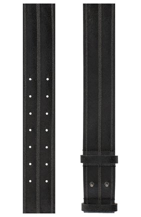 Женский кожаный ремень BRUNELLO CUCINELLI черного цвета, арт. M0BRUC508 | Фото 2 (Материал: Кожа)