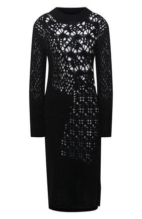 Женское шерстяное платье YOHJI YAMAMOTO черного цвета, арт. FR-K20-195   Фото 1