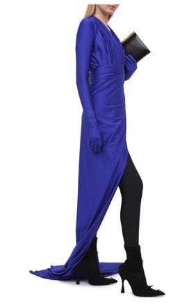Женские текстильные ботильоны lingerie BALENCIAGA черного цвета, арт. 636793/W2CT1 | Фото 2