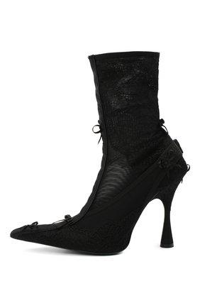 Женские текстильные ботильоны lingerie BALENCIAGA черного цвета, арт. 636793/W2CT1 | Фото 3